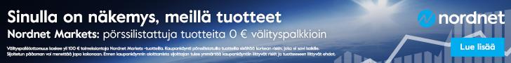 Pörssilistattuja tuotteita 0 € välityspalkkioin